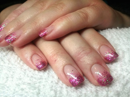 French Tip Ombre Gel Nails Papillon Day Spa